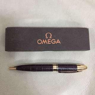 全新 歐米茄 Omega Brown Leather Clad Pen 太班 筆 (不議價 fixed price)