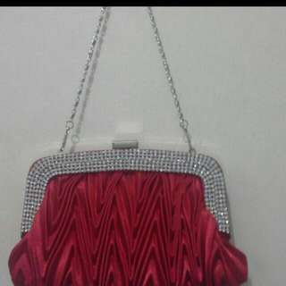 Fancy Red Party Handbag