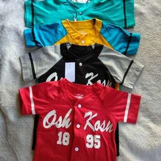 Kaos Baseball (Size 2,3,4,5 T)