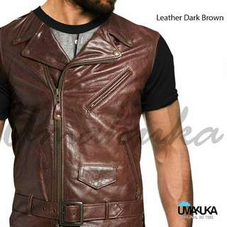 Kaos 3d fullprint (leather dark brown) size L