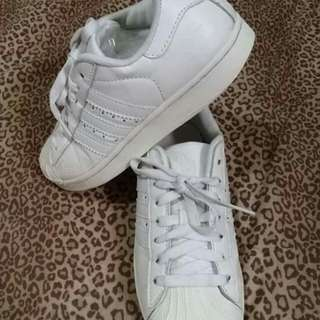 Auth adidas superstar all white