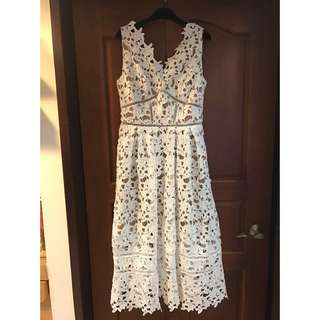 🚚 全新 Le polka 鉤花蕾絲洋裝