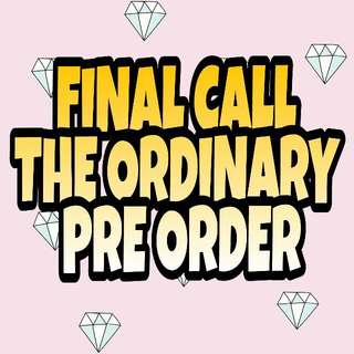 FINAL CALL THE ORDINARY