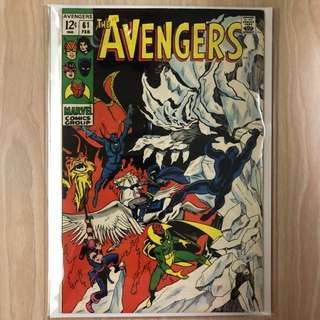 MARVEL COMICS The Avengers #61-Doctor Strange Appearance (Serious Buyers Only)