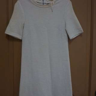 White H&M Dress (Free Scarf)