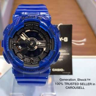 NEW🌟ARRIVAL in CASIO BABYG DIVER WATCH : 1-YEAR OFFICIAL WARRANTY: 100% ORIGINALLY AUTHENTIC BABY-G-Shock Resistant in CRYSTAL CLEAR JELLYFISH SURFING ABSOLUTELY TOUGHNESS Unisex & BEST GIFT For Most Rough Users : BA-110CR-2ADR / BA-110 / BA110CR