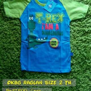 Kaos Anak OKBG Raglan for Boy Size 2 Th