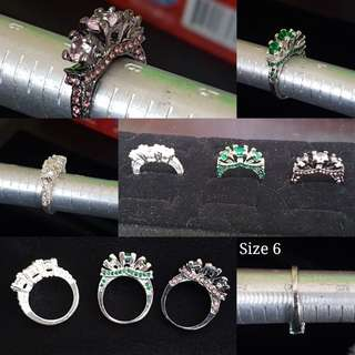 Size 6 Fashion Rings