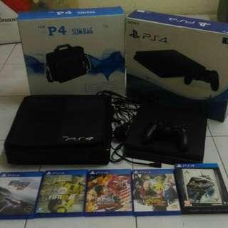 PS4 Slim 1TB - 1 Dual Shock Joystick