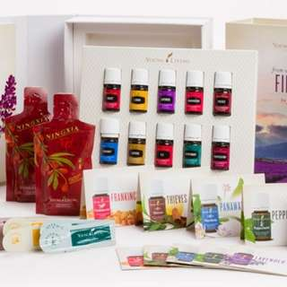 Young living premium starter kit (without diffuser) + FREE Melrose 5ml, Eucalyptus blue 5ml