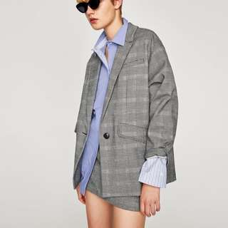 Zara Oversized Blazer and Skirt Set