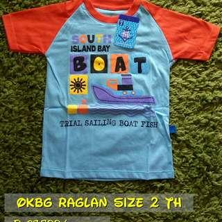 OKBG Raglan for Boy Size 2 Th