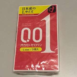 全新OKAMOTO 岡本 0.01 避孕套