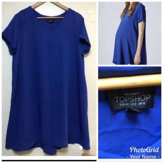 Topshop Royal Blue maternity dress