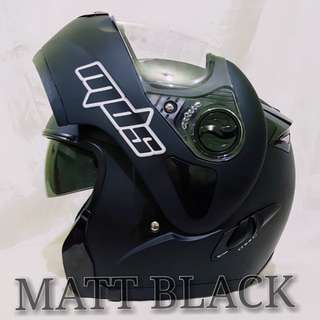 MATT BLACK MDS MODULAR HELMET..😎!!