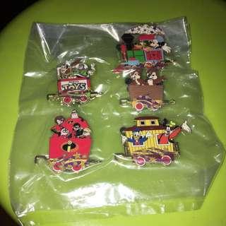 包郵 香港迪士尼 Disney Disneyland 2008 Pin Trading 襟針 火車 列車 (有頭有尾,不散賣)Chip n Dale