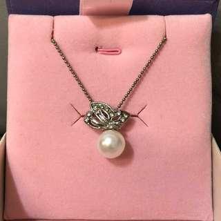 蝴蝶珍珠頸鏈 (necklace+pendant)