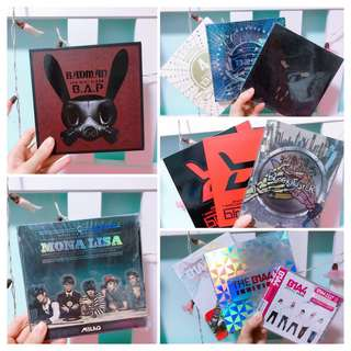 Assorted Albums Clearance (Kpop)