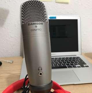 Samson C01U Pro USB condenser mic 錄音咪 90% new