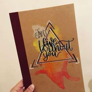 手寫水彩notebook