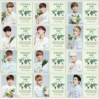 [Free pos][All]Exo Nature Republic Ver 2 photocard