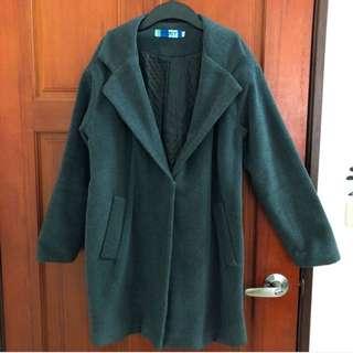 深鐵灰 大衣外套