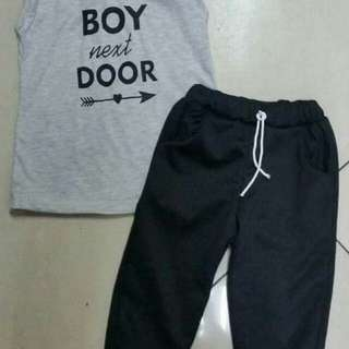 Boy Next Door Trouser Set