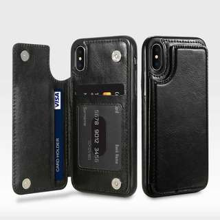 Leather Case Mini Wallet iPhoneX. Hitam,Coklat. 100gr.