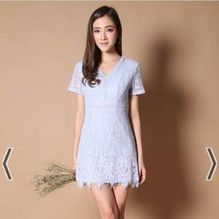 Sweet Floral Lace Dress