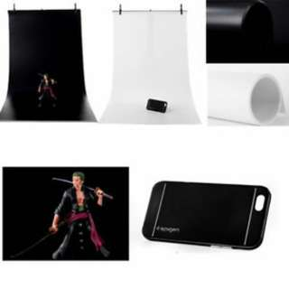 2 pcs total black and white pvc background Free courier delivery