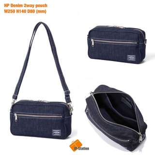 預訂 Head Porter Tokyo Denim 2way Pouch shoulder bag 斜咩袋 牛仔 系列 全品日本製🇯🇵
