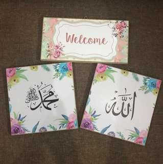 Pajangan Allah dan Muhammad + Welcome
