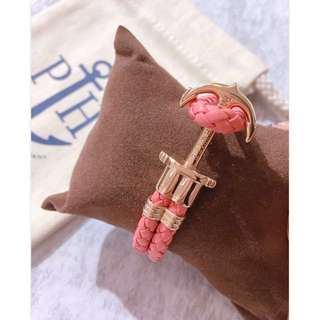 Paul Hewitt Anchor Bracelet Leather Coral Bay Rose Gold Anchor 珊瑚粉色皮手帶💕