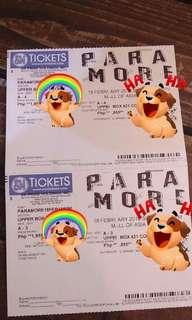 2 Upperbox Tickets for Paramore Tour Four Manila