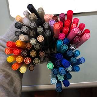 Tombow ABT Dual Brush Pen 雙頭彩色毛筆 x 73支 加5支其他牌子