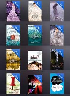 E-books John Green Mitch Albom Keira Cass