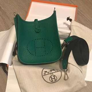 Hermes Evelyne TPM (mini) Vert Vertigo Clemence PHW
