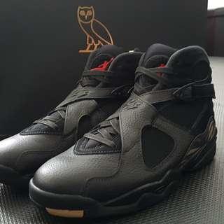Ovo x Air Jordan 8 Black / White