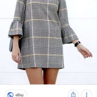 Brand new Zara check mini dress size m