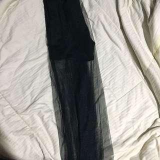 Black skirt / tile skirt / long skirt