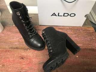 Aldo heeled lug boots sz 9 - worn once!