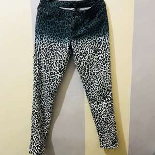 Forever 21 Leopard Print Ombre Pants