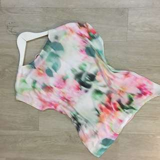 Silk Front Printed Top