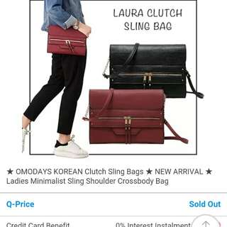 Looking for LAURA clutch sling bag