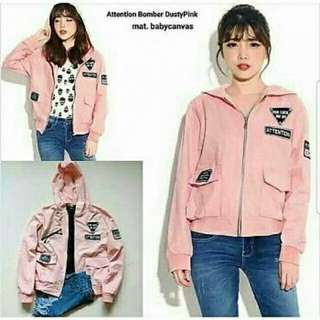 Jaket Attention Pink