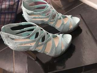 Sky blue heels!