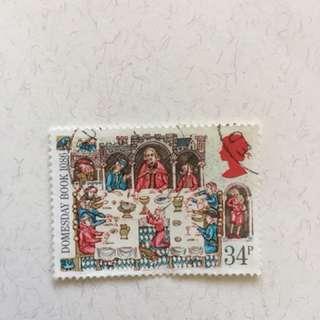 1986年 Domesday Book 英國郵票一套四款