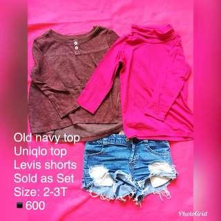 Ripped shorts set