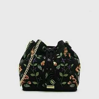 Charles & Keith: Embellished Drawstring Bag