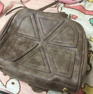 韓風 藕色袋子 跟照片有色差